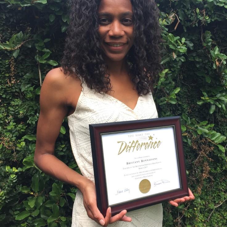 Teacher wins teacher of the month award...helps her avoid teacher burnout