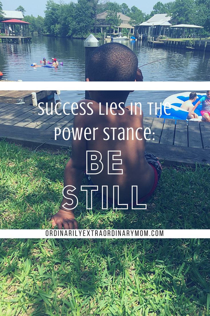 """""""Be still and know that I am God."""" Psalm 46:10. Learning to hear God's voice in the busyness of life."""
