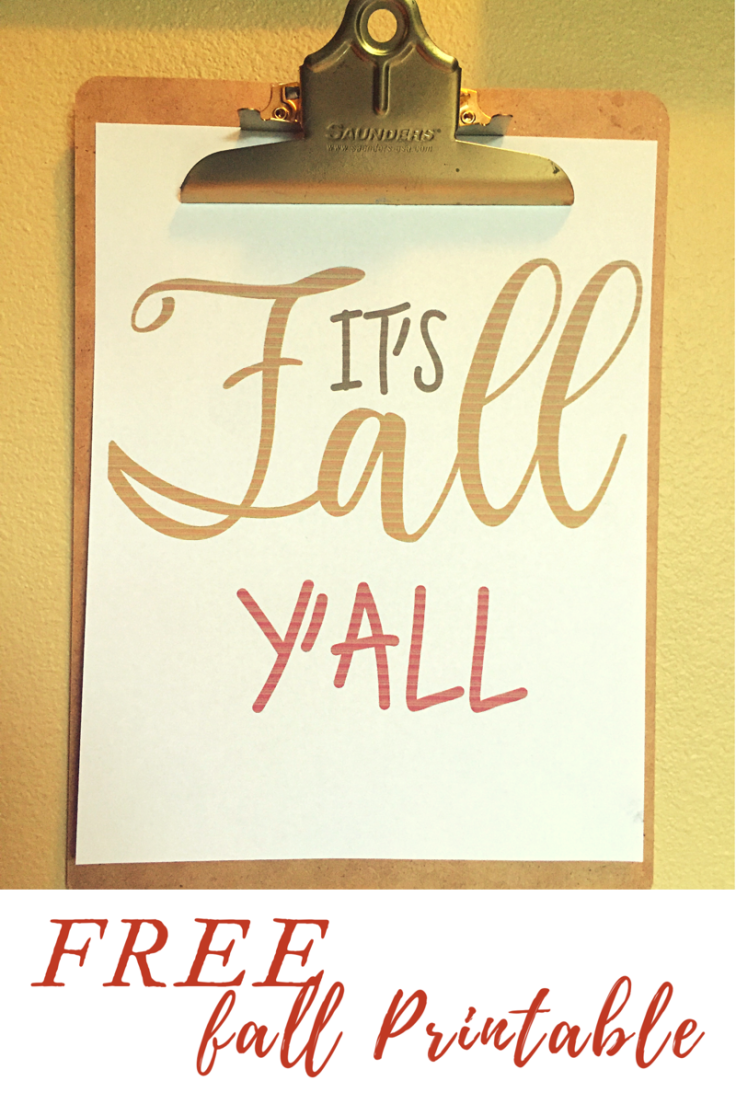 It's Fall Y'all Free Printable for Fall Home Decor