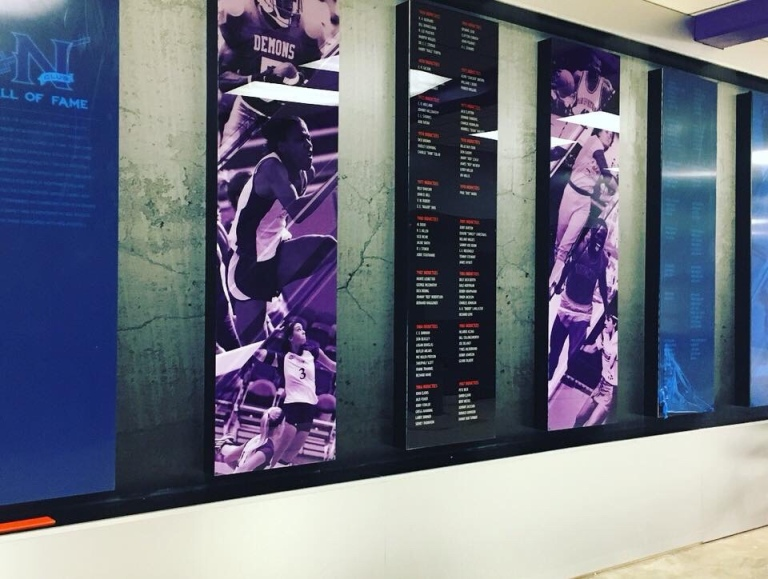 Northwestern State University Track & Field Wall of fame now features former hurdler Brittany Littlejohn - school record holder and Southland Conference Record Holder.