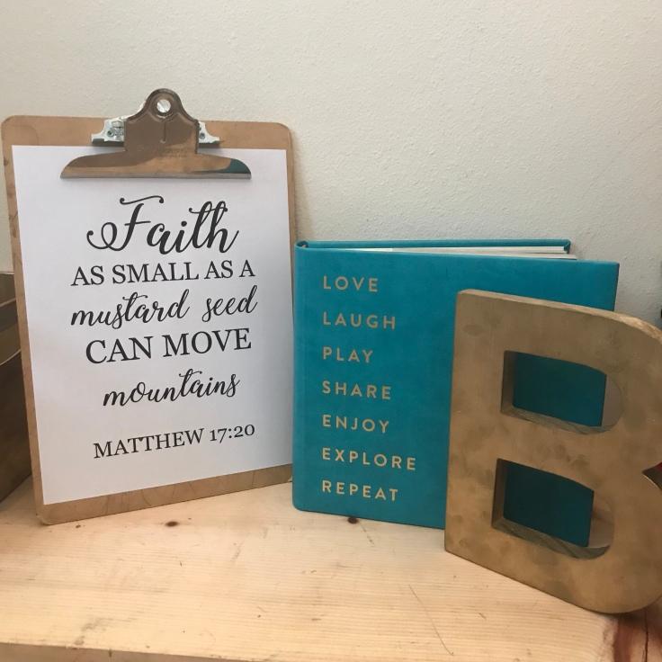 Faith as small as a mustard seed can move mountains. Matthew 17:20