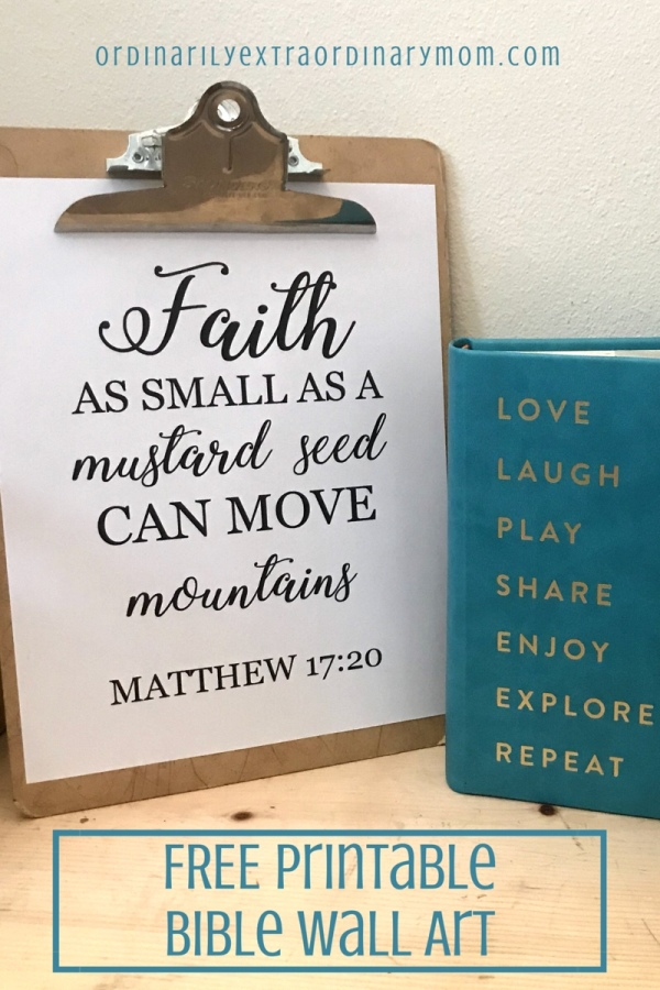 Faith as small as a mustard seed can move mountains. Matthew 17:20.