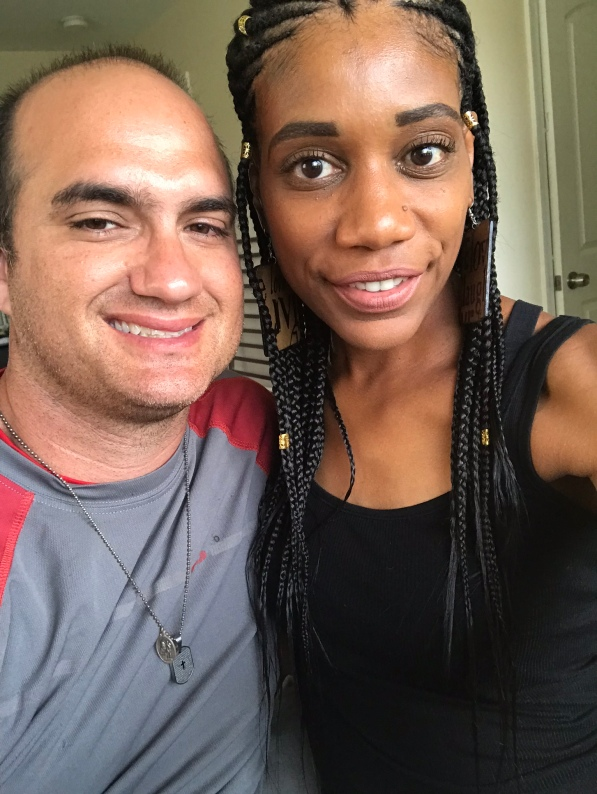 Interracial Couple celebrating their 10-year anniversary of marriage