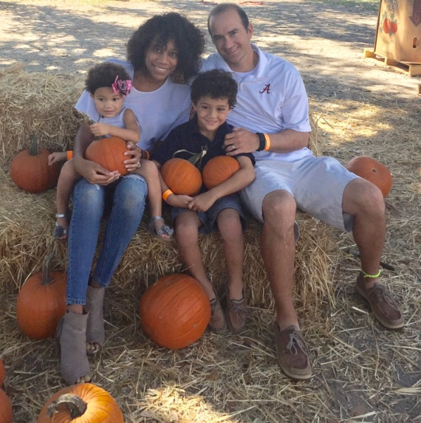 Celebrating the small stuff at the pumpkin patch with family