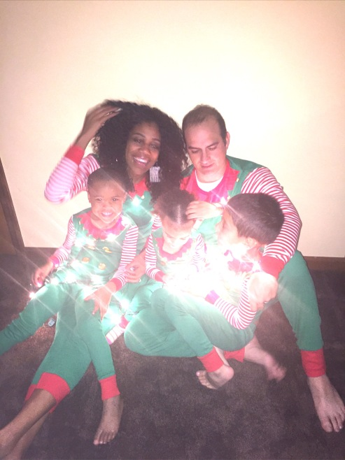Christmas Inspired Photos are perfect for creating Christmas cheer | Inspiration | Motivation | Christmastime | Family photo | Christmas Photo | Interracial family