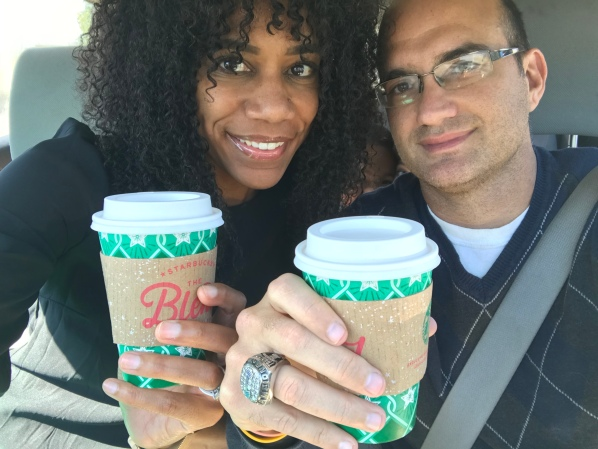 Christmas flavored coffee via one of my favorite coffee gives just the little extra I need to start feeling Christmas cheer | Holiday spirit | Happy holidays | Interracial Marriage | Christmas photography | Christmas photo | Inspiration | Motivation | Christmas coffee