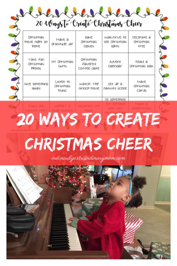 20 Ways to Create Christmas Cheer | Happy Holidays | Holiday Acitvities | Christmas Activities | Low cost Christmas | Minimalist Holidays