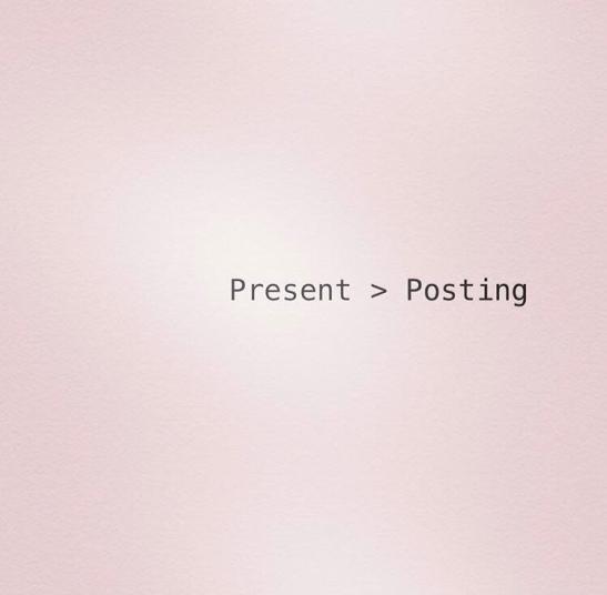 Present over Posting.