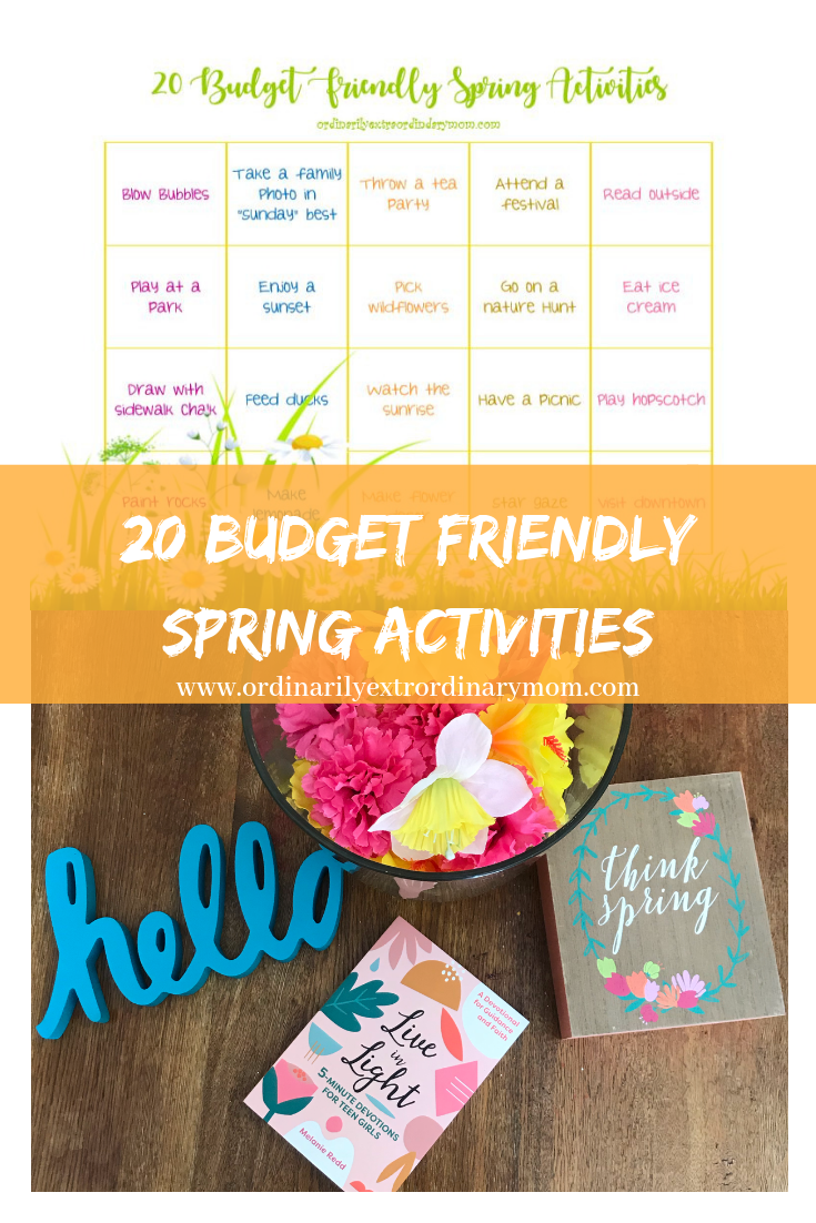 20 Budget Friendly Spring Activities #springactivities #budgetfriendlyactivities #workingmom #mom #momlife #budget #minimalist #minimalism