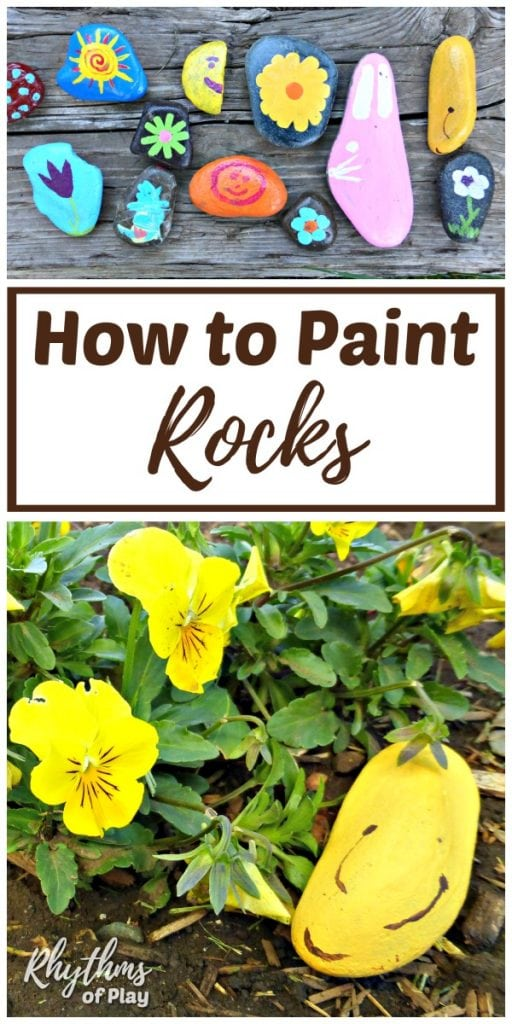 How to Paint Rocks. Rock painting made the list this year for spring activities. I cannot wait to try this out. #springactivities #kidactivities #childrenactivities #kidsactivities #budget