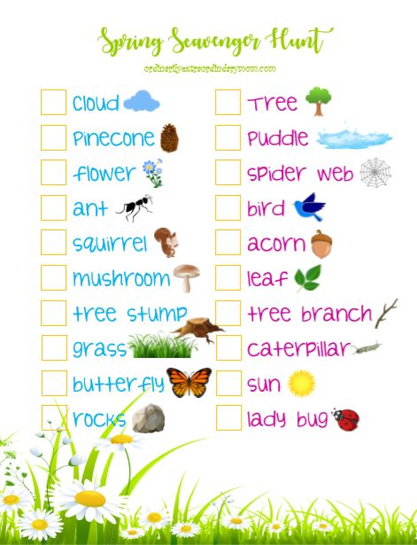 A spring scavenger hunt allows you to enjoy the beauty of spring that surrounds you. #kidsactivities #kidfriendly #springactivities #spring #budgetfriendly #budgetfriendlyactivities