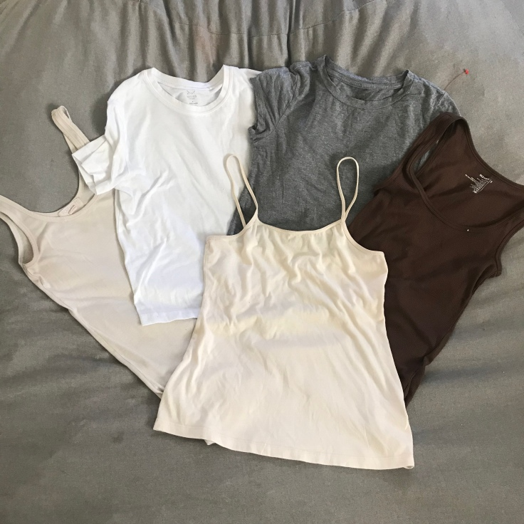 A collection of tshirts can easily be mixed and matched with a minimalist wardrobe. #minimalistwardrobe #minimalistlifestyle