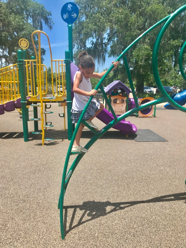 My daughter playing at City Park in New Orleans, LA. #summeractivities #summeractivitiesforchildren #budgetfriendlyactivities #summeractivitiesforkids