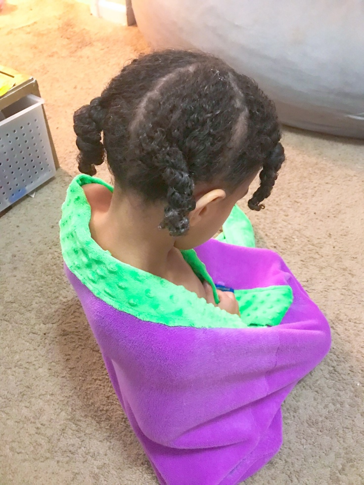 On freshly washed hair, section and twist so that the hair can just be taken down and worn out the next day. #nightimehairroutine #nighttimeroutinenaturalhair #naturalhaircare #africanamericanhair #curlyhairroutine