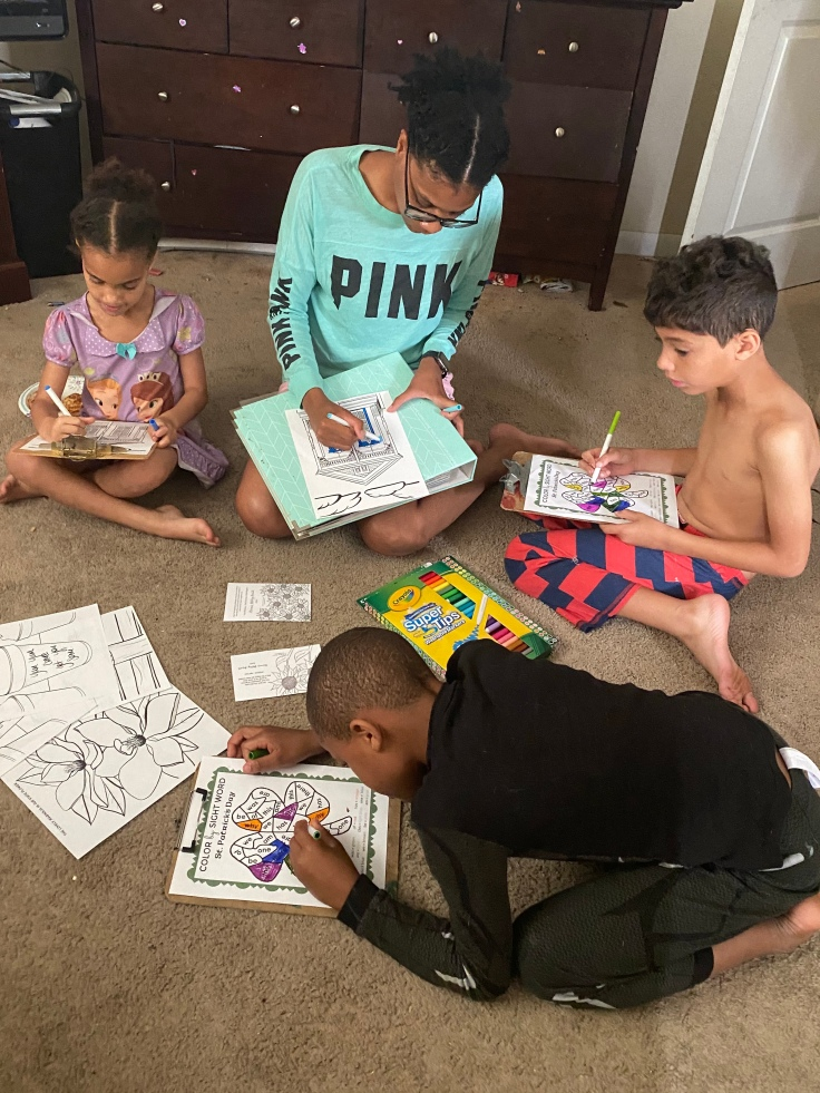 Coloring provides family fun for adults and children alike. #coloring #coloringpages #neworleanscoloringpages #colorbynumber #familyactivities #freefamilyactivities #budgetfriendlyactivities