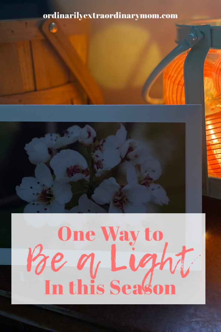 One Way to Be a Light in this Season | ordinarilyextraordinarymom #bealight #cardshandmade #cards #stationary #spreadlight #inspiration #happymail