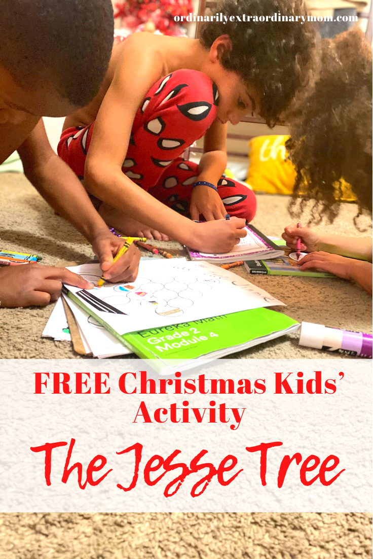 FREE Christmas Kids' Activity: The Jesse Tree | ordinarilyextraordinarymom #kidsactivities #freekidsactivites #freechristmasactivities #freechristmasprintables #freejessetreeactivity #jessetree #christianmom