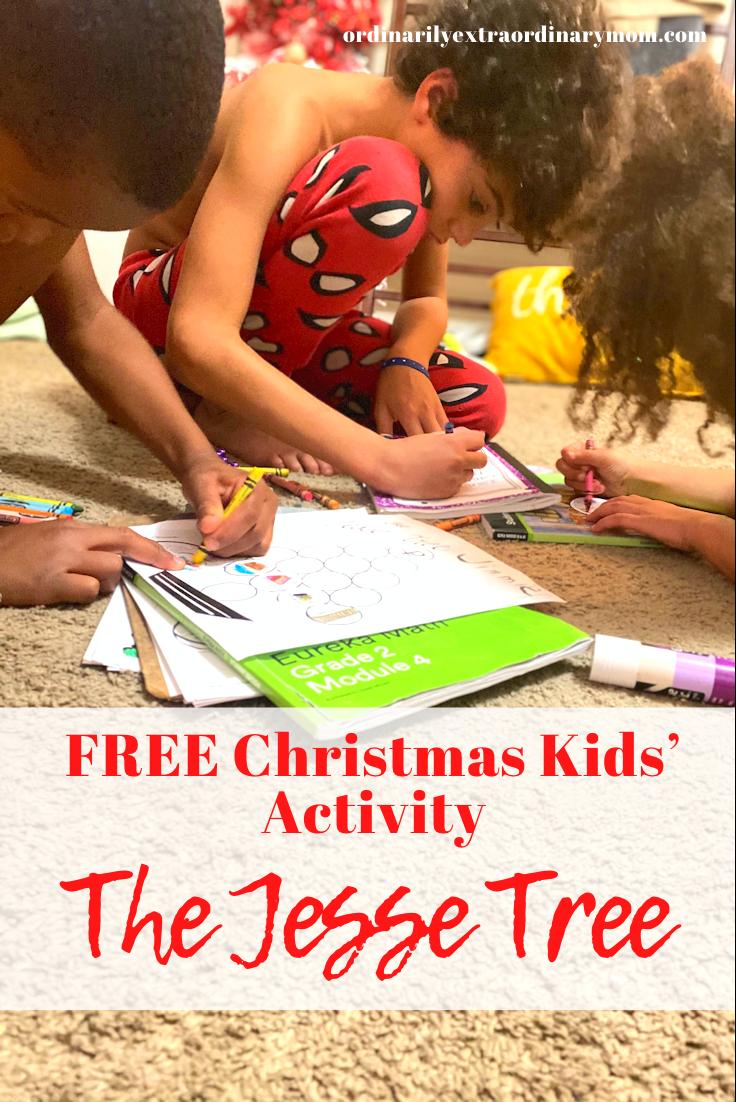 FREE Christmas Kids' Activity: The Jesse Tree | ordinarilyextraordinarymom #kidsactivities #freekidsactivites #freechristmasactivities #freechristmasprintables #freejessetreeactivity #jessetree #christianmom