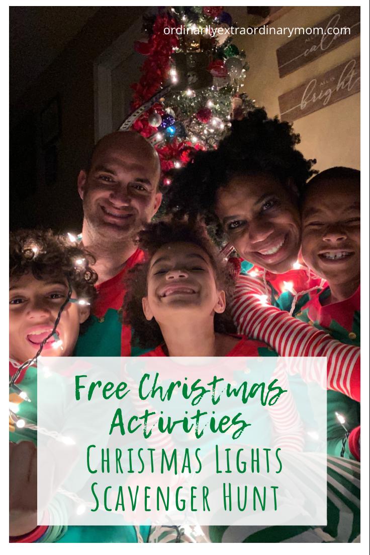 FREE Christmas Activity - Christmas Lights Scavenger Hunt | ordinarilyextraordinarymom #freeprintable #freechristmasprintable #christmasscavengerhunt #freechristmasactivity #freekidsactivities